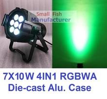 Hot Sale 2016 Led Par Light 7x10W RGBW 4IN1 Quad Color Mini Par Can Led DMX DJ Disco Effect Stage Lights Professional Party Show(China (Mainland))
