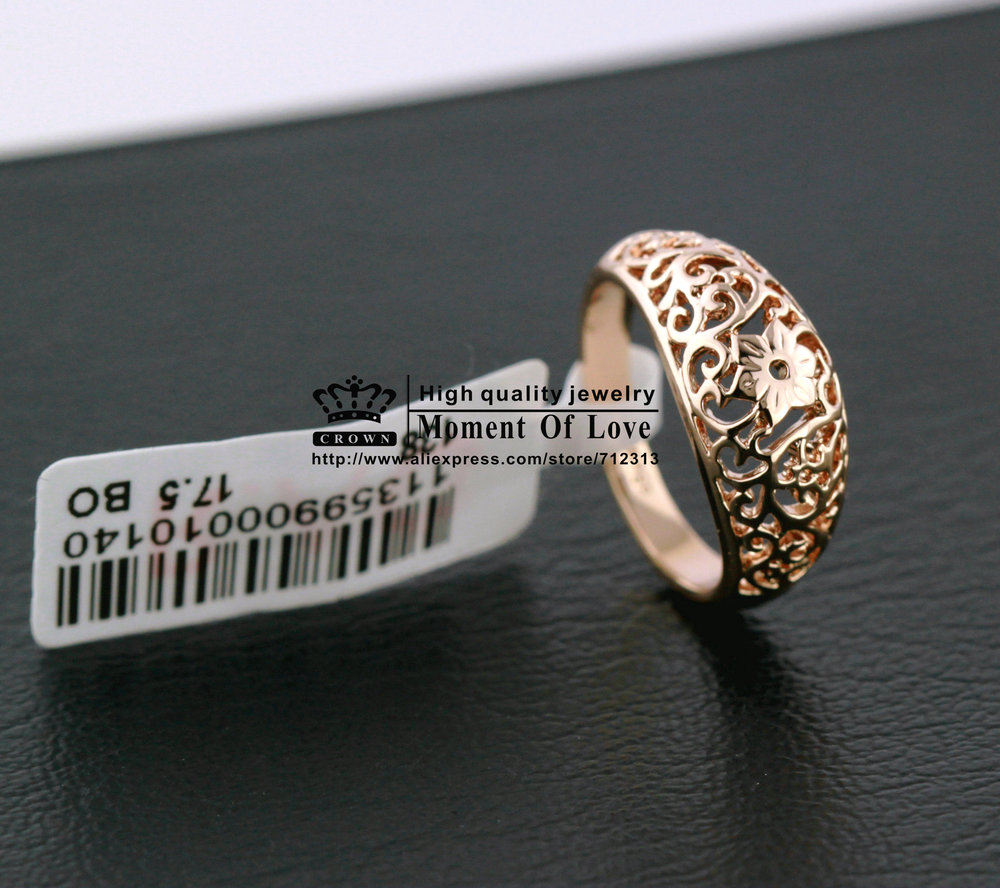 Italina brand 1PCS Free shipping New arrival 18K gold plated hollow out retro totem flower jewelry rings (CROWN CR-012)(China (Mainland))