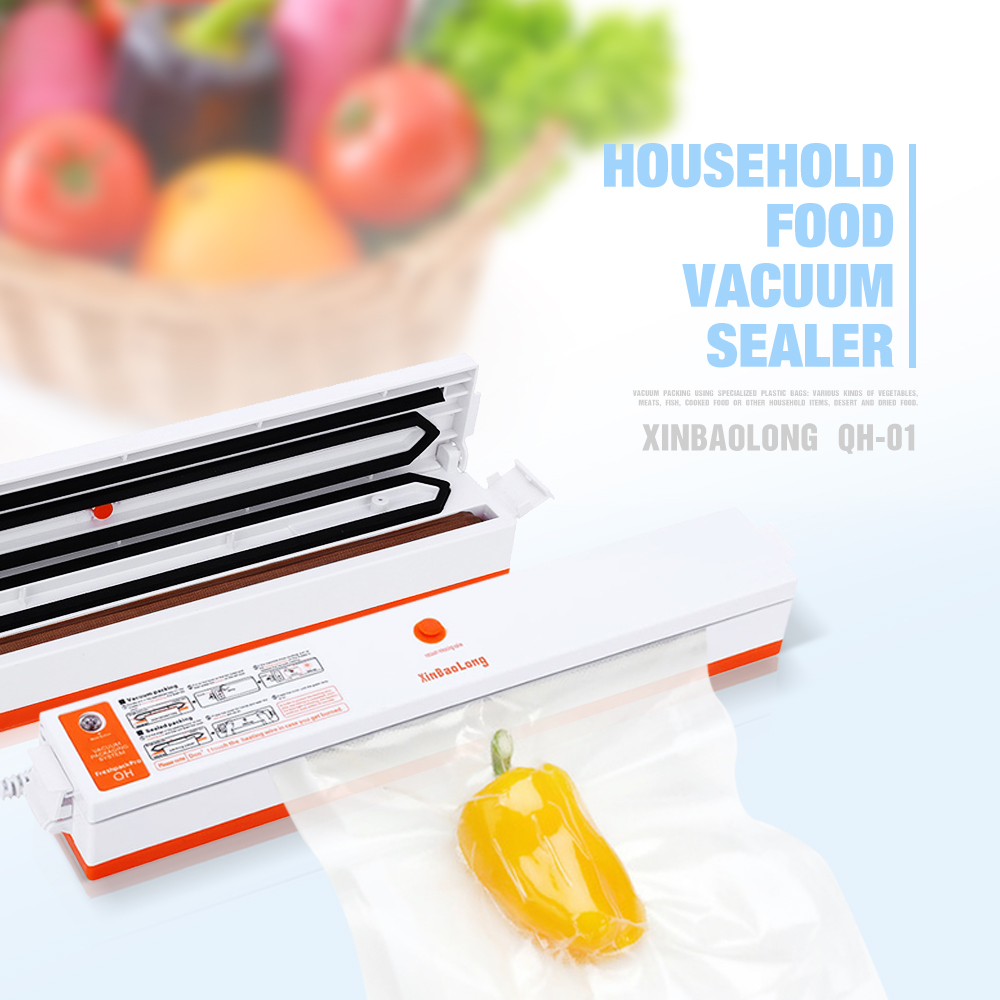 RU Shipping Automatic 220V Electric Vacuum Food Sealer Machine Food Sealing Machine Vacuum Packaging Machine(China (Mainland))