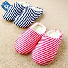 2016 Winter Cotton Household Slippers Men Women Pantufas Home Shoes Striped Slipper Soft Floor Pantuflas Indoor Pantofole Donna