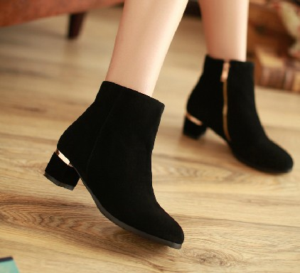free shipping 2013 luxurious sheepskin flat heel boots side zipper genuine leather female boots vintage style shoes for women<br><br>Aliexpress