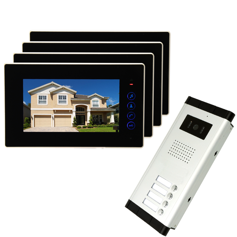 brand new apartment intercom 7 inch lcd touchkey video