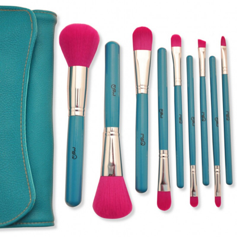 9pcs makeup brushes set sky blue face styling tools foundation powder kabuki contour concealer stippling blush shadow brush<br><br>Aliexpress