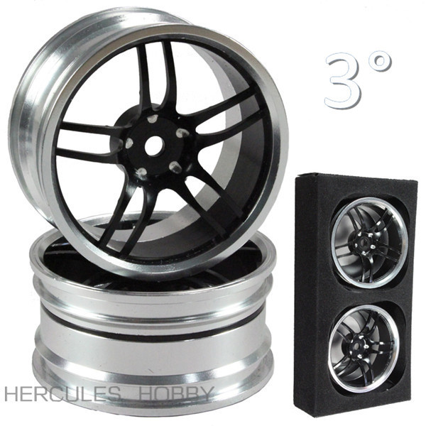 Aluminum Alloy CNC Machined RC Car Drift Touring On road 1/10 Wheels 4pcs(China (Mainland))