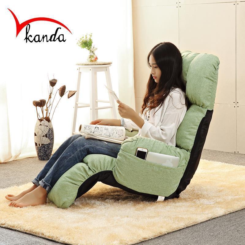 Adjustable Folding Floor Chair Sofa Bed Lazy Sofa Change