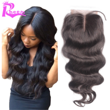 can be dyed and bleached 2″*4″ baby hair body wave lace closure,  Free shipping by Epacket