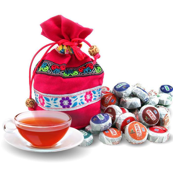 Dropshipping Yunnan Pu er Mini Tuo Cha 10 taste 50pcs ripe tea raw tea gift bag