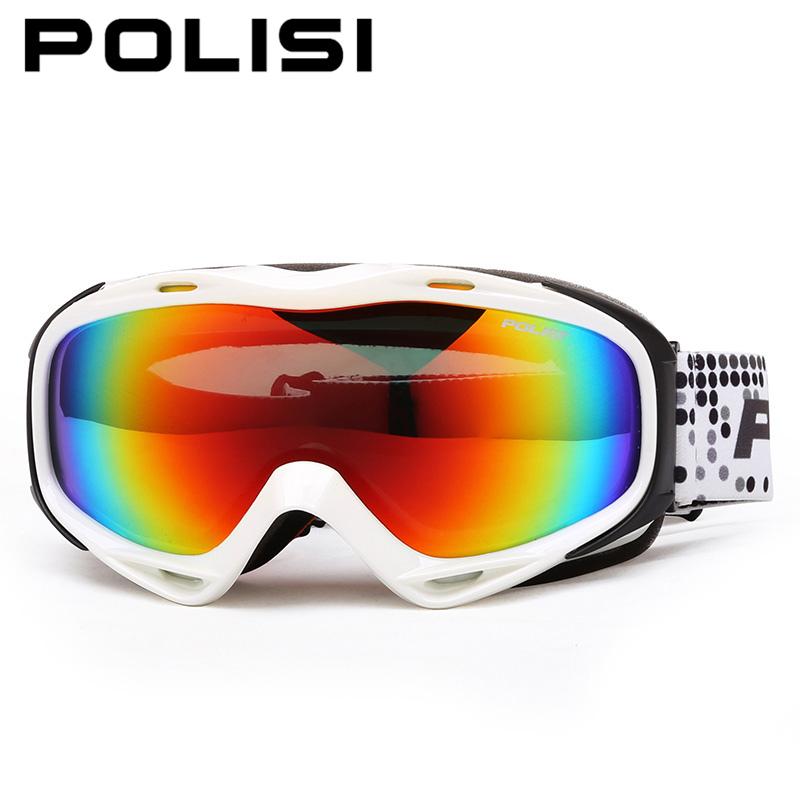 POLISI Winter Ski Snow Goggles Snowboard Skate Eyewear Polarized Anti-Fog Lens Outdoor Snowmobile Mountaineering Skiing Glasses