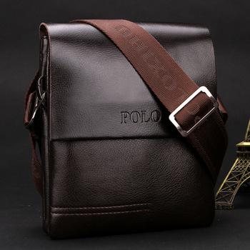 New Arrived POLO Genuine leather men's messenger bag mini fashion shoulder bag cross body bag business briefcase Free Shipping