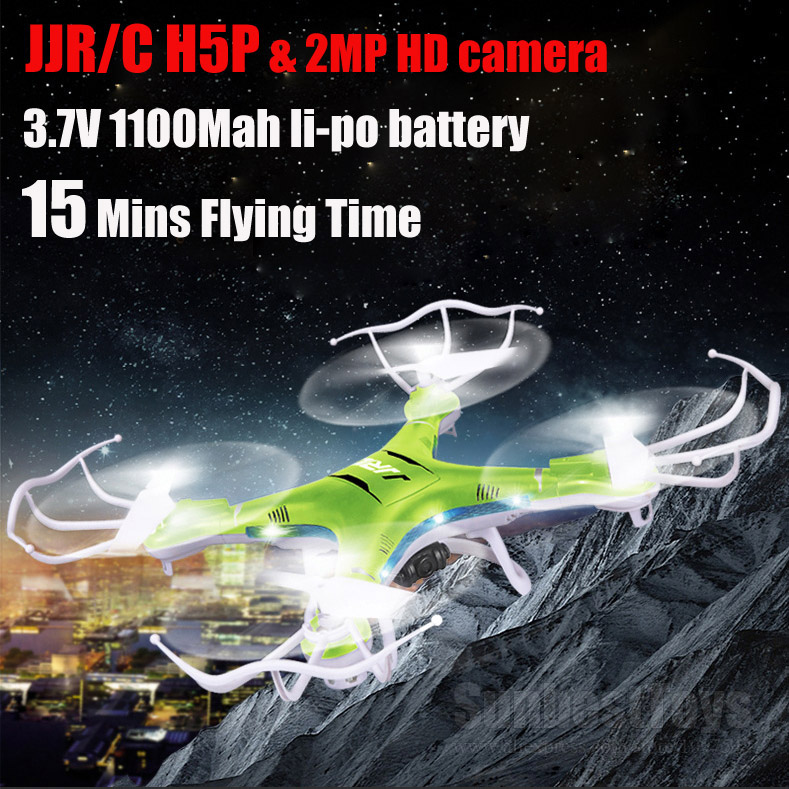 JJRC H5P 2.4G 4CH RC helicopter 6axis gyro 15 mins Duration quadcopter with 2MP HD Camera Long flying time rc drone(China (Mainland))