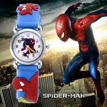 spiderman watch kids watches 3d rubber strap cartoon children baby clock children's saat kid gift relogio - True Colors Store store