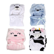 #Cu3 New Cute Animal Cartoon Baby Kid's Hooded Bathrobe Toddler Bath Towel