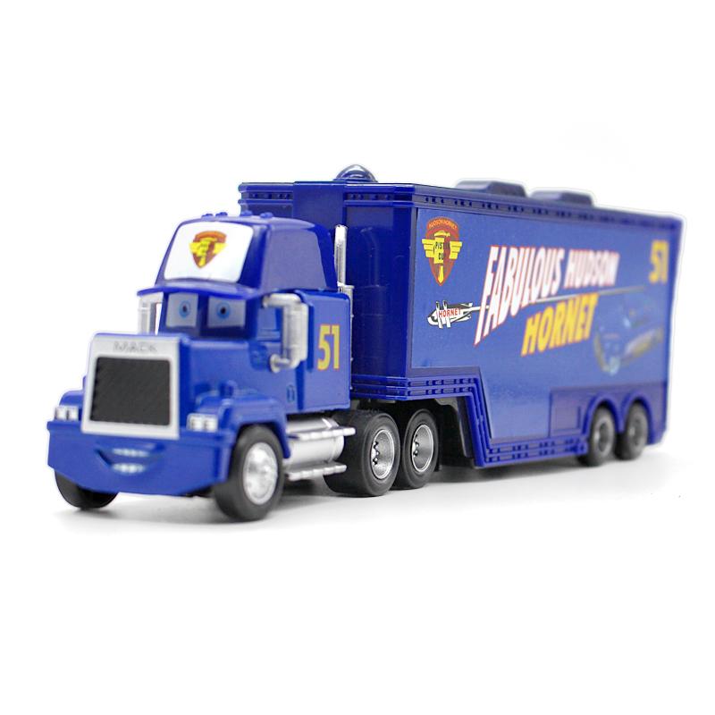 100% Original PIXAR CARS 2 No.51 Mack Truck 1:55 Diecast Models Vehicles Kids Toys Car Toys Set For Children Gifts(China (Mainland))