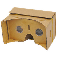 """Newest High Quality DIY Google Cardboard 3D VR Box Reality Glasses VR Mobile Phone 3D for 5.0"""" Screen Google VR 3D Movies Games(China (Mainland))"""
