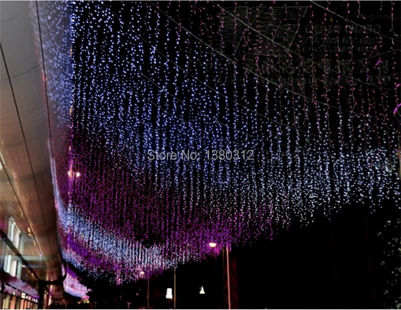 Free Shipping 120 Leds 4m*0.6m 220V Outdoor New Year Wedding Party Christmas Led Curtain(China (Mainland))
