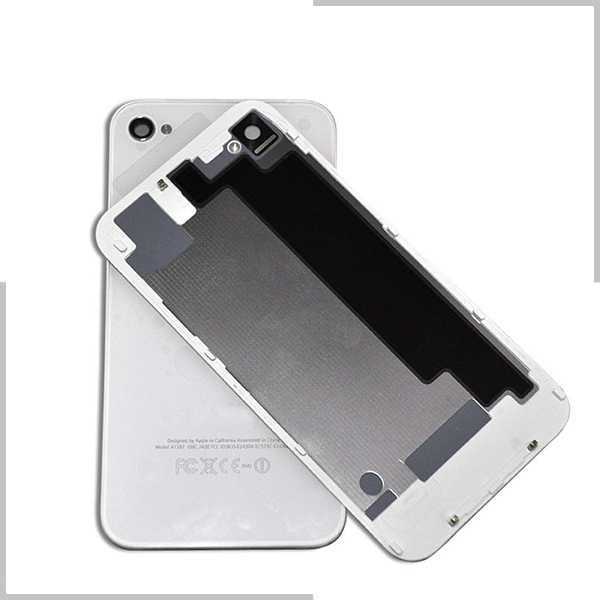Free shipping OEM Battery Cover For iPhone 4G 4S Battery Back Cover Door Rear Panel Plate Glass Housing Replacement Black/White(China (Mainland))
