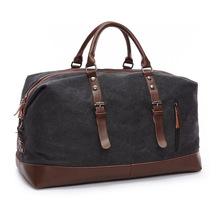 Vintage Military Canvas Leather Men Travel Bags Carry on Luggage Bags Women Duffel Bags Travel Tote Large Weekend Bag Overnight(China (Mainland))