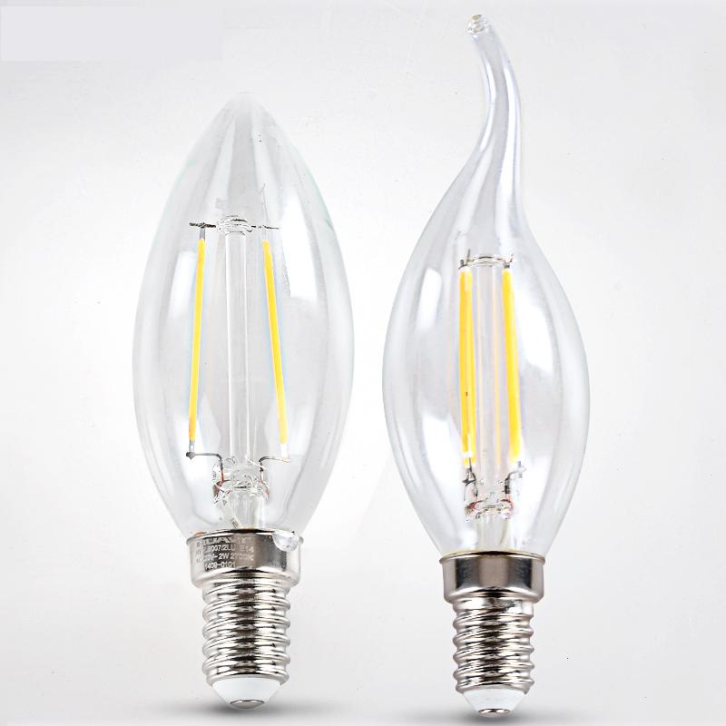 2W 4W E14 220V 230V 240V LED Filament Bulb clear grass Edison light bulbs led ceiling chandelier light bulb for Home Decoration(China (Mainland))