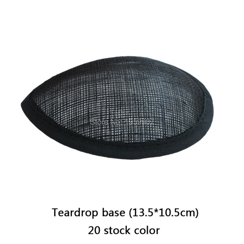 Black Sinamay Teardrop Base Fascinator Base #20 stock Color 20pcs/lot(China (Mainland))