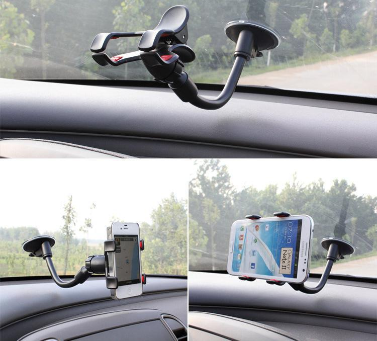 Car Styling Universal Car Phone Holder Windshield Smartphone Mount Bracket For Iphone 6 Plus Galaxy S3 S4 S5 S6 GPS PDA(China (Mainland))