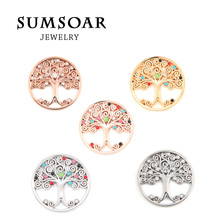 Sumsoar Jewelry Coin Tree of Life with Color Crystal Disc Coin for Deluxe My Coin Jewelry Frame Pendant 10pcs/lot(China (Mainland))
