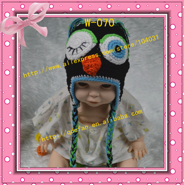 2013 new !free shipping handmade crochet animal hats for childrens hand knit patterns for kids baby and infant boys winter caps(China (Mainland))