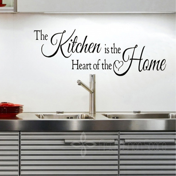 Diy Vinyl Removable Kitchen Is The Heart Of The Home Wall Quotes Stickers For Kitchen Decor
