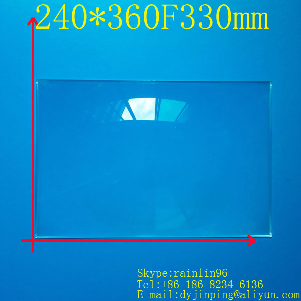 free shipping  15.6 inch lcd panel DIY projection screen projector fresnel lens 240MM*360MM focal length 330 MM<br><br>Aliexpress