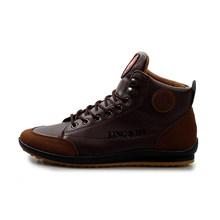 WOLF DIE Retro Winter Mannen Lederen Katoen Laarzen Super Warm Casual Man sneakers Lace Up Patchwork Enkellaars Zapatos Hombre w067(China)