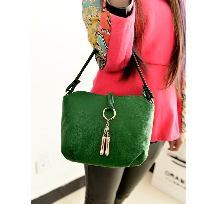 15 Colors NEW Small Women GENUINE LEATHER Handbag Bucket Shoulder bag Natural Cowhide crossbody bags HOBO Fashion FOR girl Z001(China (Mainland))