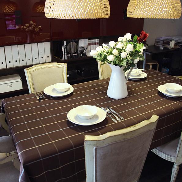 Table cloth fashion coffee plaid cloth dining table cloth coffee table runner(China (Mainland))