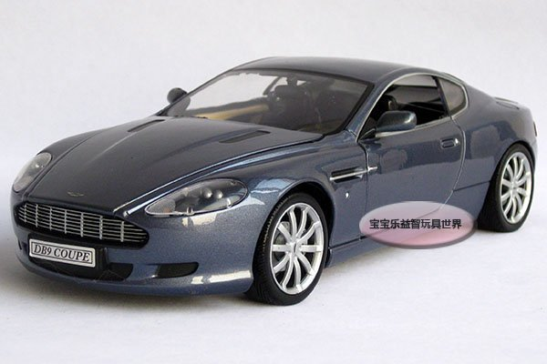 New AstonMartin DB9 1:24 Alloy Diecast Car Model Toy Collection With Box Blue B114a(China (Mainland))