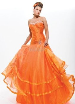 Ball Gown Strapless Floor-Length 2009 Style Gown Dress SKU610014
