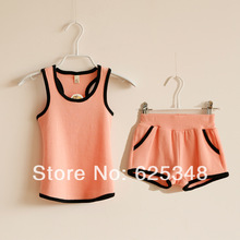 2014 Brand new Cute summer children's clothing, kids clothes sets,Children's Wear, boys girls clothing sets for sport(China (Mainland))
