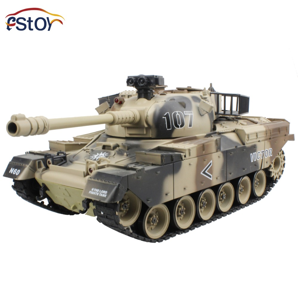 RC Tank USA M60 15 Channel 1 16 Patton Main Battle Tank Model With Shoot Bullet