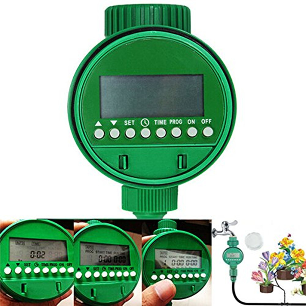 Home Automatic Electronic Water Timer Garden Irrigation Controller Display Digital Intelligent Watering System LCD Waterproof(China (Mainland))