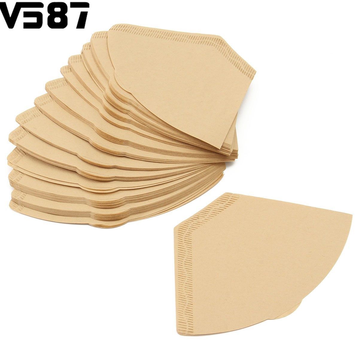 100Pcs Unbleached Coffee Filter Papers Cones Cups Brewer Cappucino Strainer Crafts Practical Home Shop Coffee Tools Accessories(China (Mainland))