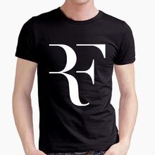 Roger Federer perfect logo t shirt 100% combed cotton RF Tennis tshirt New men short sleeve t shirt high quality