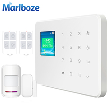 Wireless IOS Android App Control TFT Color Screen Touch Keyboard Wireless Home Security GSM Alarm System Voice Prompt Alarm(China (Mainland))
