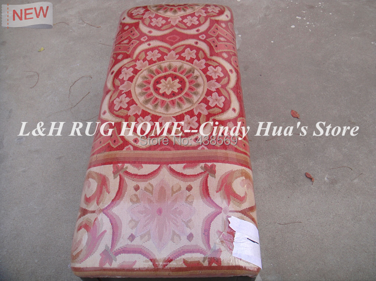 Free shipping rectangle wood ottoman,cripple, footrest, footstool with hand engraving and aubusson stool covers piano stool(China (Mainland))