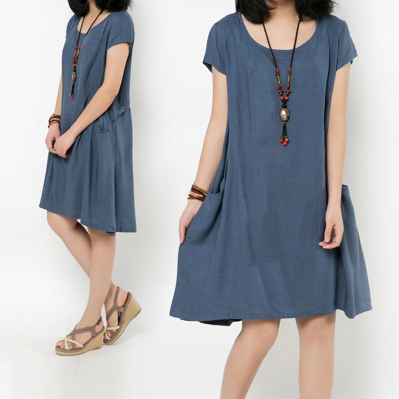 plus linen dress for summer