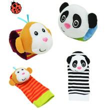 Baby Kids Sock And Wrist Rattles Cute Intellectual Developmental Toys