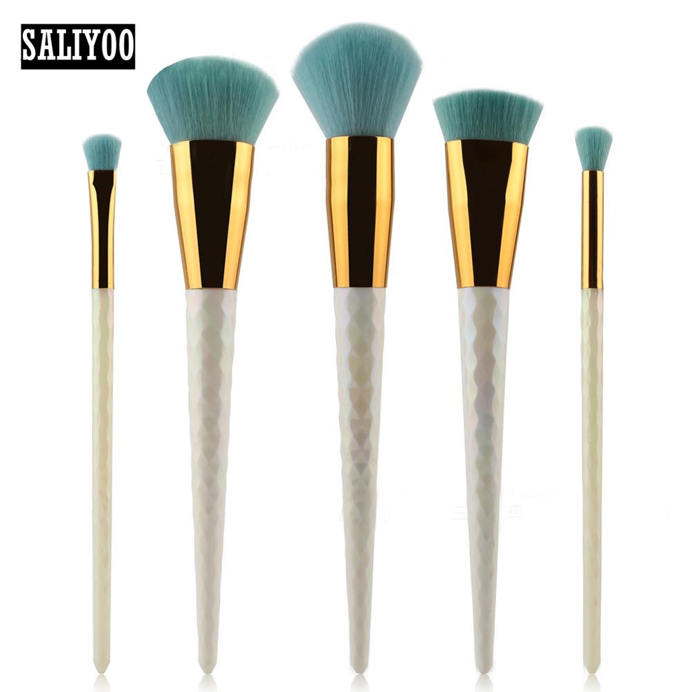 Hot sale 5pcs Diamond Handle Make Up Brushes Set Cosmetics Foundation Tools For Face Powder Eye Shadow Eyeliner Makeup Brushes(China (Mainland))