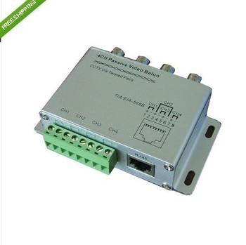 8pcs CCTV 4 Channel Passive Video Balun Transmitter 4CH UTP Video Balun BNC to UTP RJ45 Camera DVR