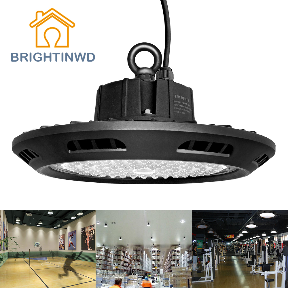 BRIGHTINWD 100-265V UFO Linear Led High Bay 100W 150W 200W High Power Led Reflector SMD3030 Industrial Led Lamp For Factory(China (Mainland))