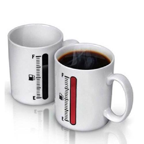 Heat Colour Change Mug Cup (Temperature meter) Wonderful Gift(China (Mainland))