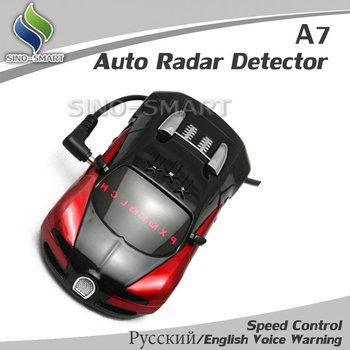 Latest version 2pcs/lot Free Shipping Russian/English Voice Warning Auto Radar Detectorr car radar Vehicle Speed Control