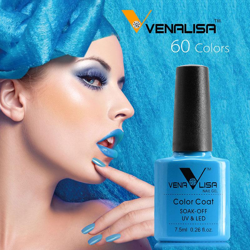#61508 VENALISA Best selling products soak off uv led gel nail polish 60 color nail liquid gel(China (Mainland))