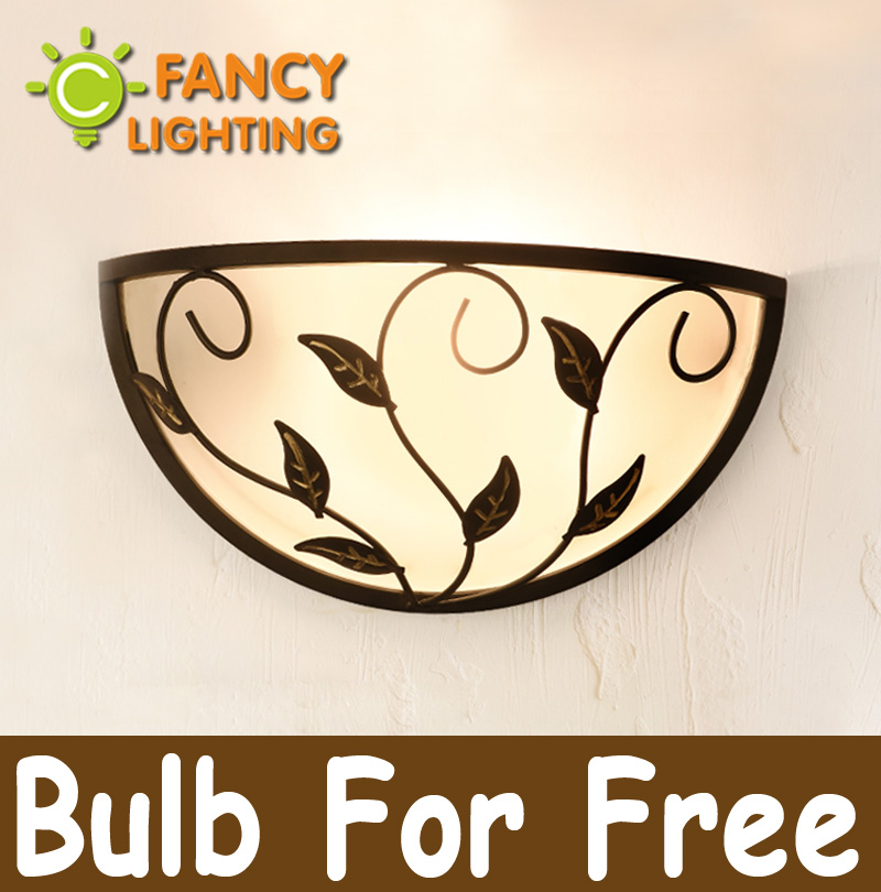 Northern Europe style IKEA balcony lamp wall lamps 110/220V LED iron wall pastoral retro glass corridors entrance bedside lamps<br><br>Aliexpress