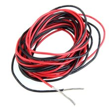 Buy 2x 3M 20 Gauge AWG Silicone Rubber Wire Cable Red Black Flexible for $1.36 in AliExpress store